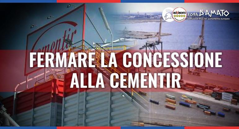 Porto Taranto, D'Amato (M5S): concessione alla Cementir va fermata, chi non ha rispettato impegni non puo' essere premiato